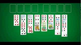 FreeCell Demonstration (Windows 7)