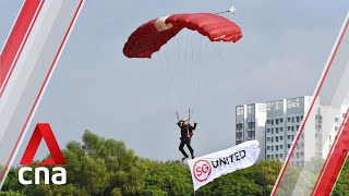 NDP 2020: Red Lions salute frontline workers, landing near hospitals in Jurong and Sengkang
