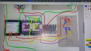 비닐하우스 dc모터 컨트롤박스 자작 결선도 라인제어방식