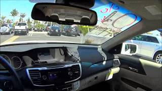 2013 Honda Accord EX-L POV Test Drive. Orchid white pearl on Ivory