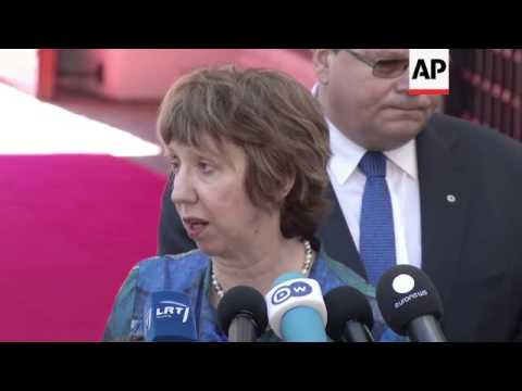 EU foreign ministers meet, briefing with Catherine Ashton, comments on Syria