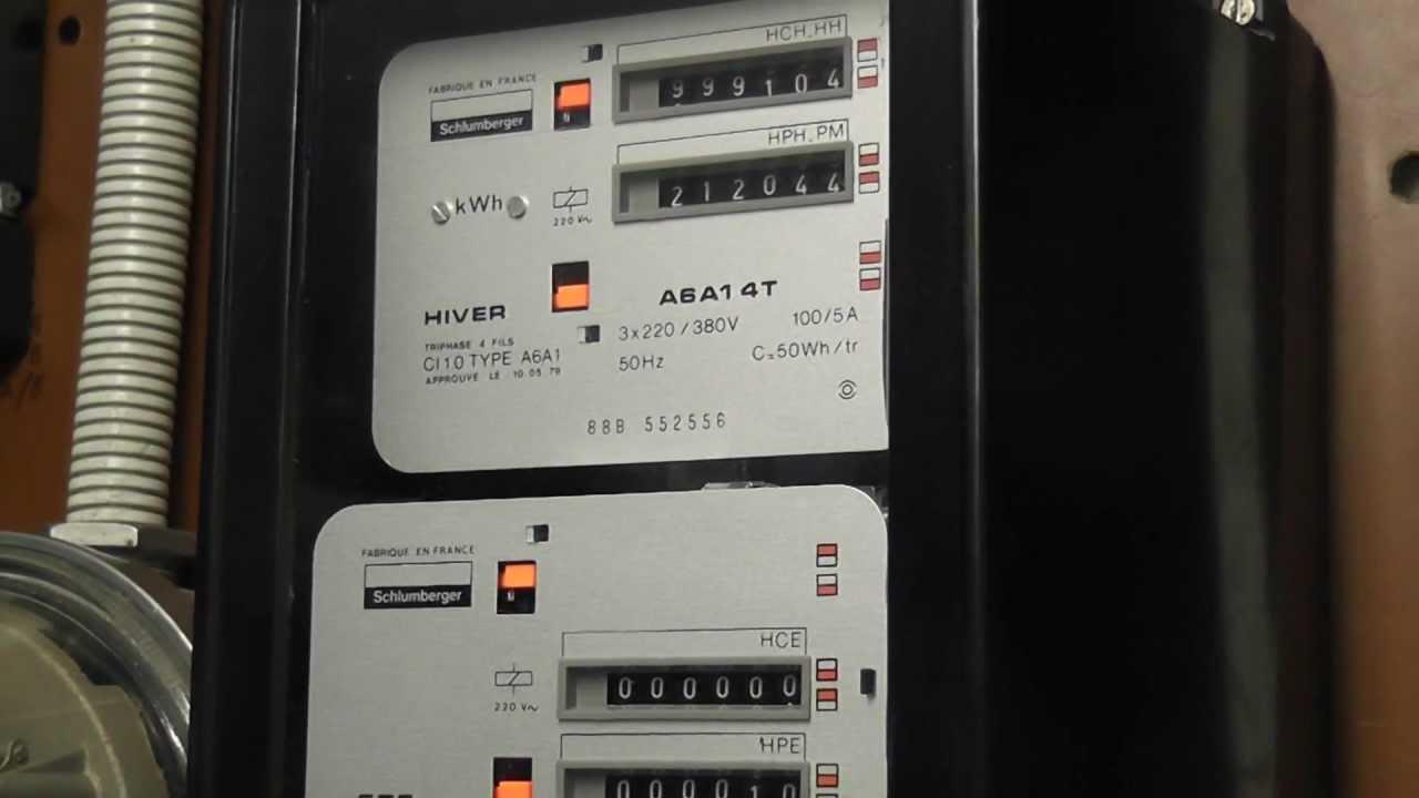 Elektriciteitsmeter for Lire un compteur edf