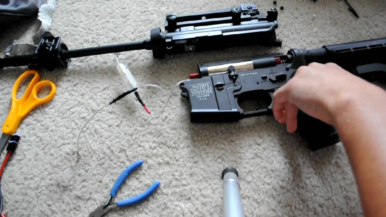 Airsoft Gun M4 How To Upgrade Your Airsoft Gun Aeg (part 1) - Youtube
