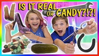 IS IT REAL OR CANDY? | We Are The Davises