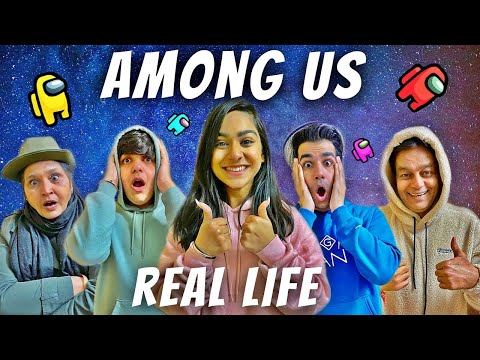 AMONG US IN REAL LIFE WITH MY FAMILY PART 3   Rimorav Vlogs