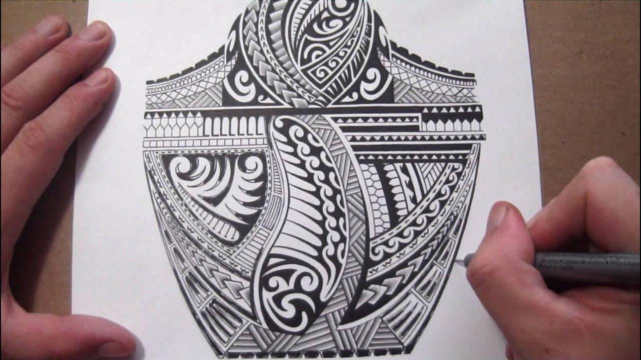 Maori Polynesian Tribal Half Sleeve Tattoo Design