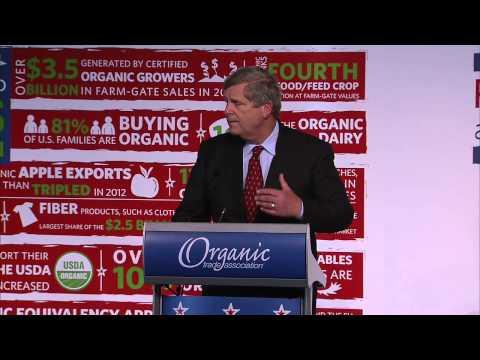 Secretary Tom Vilsack speaking at OTA