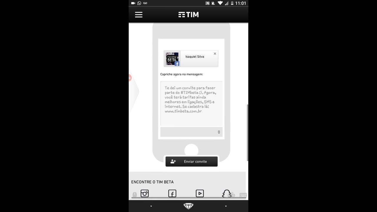 Como Enviar Convite Tim Beta Pelo Celular Youtube