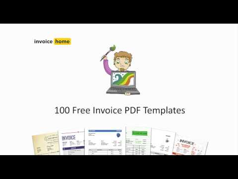 100 Free Invoice PDF Templates | InvoiceHome.com
