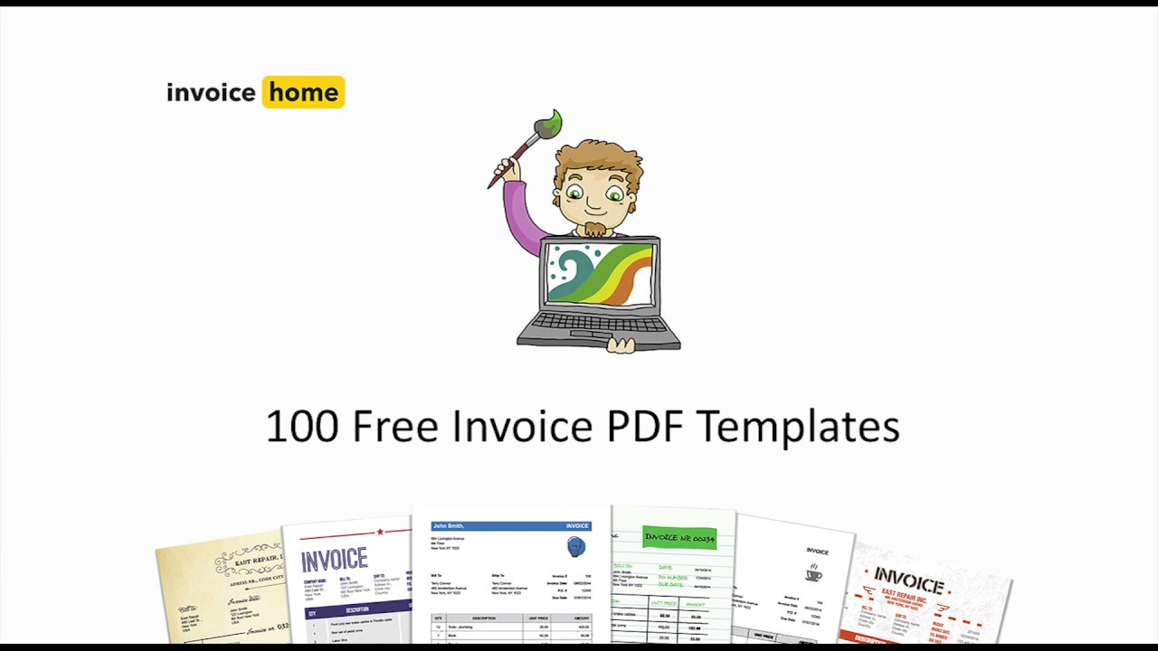 100 free invoice pdf templates invoicehome com youtube
