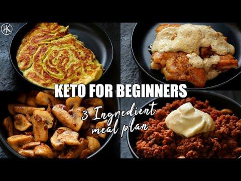Keto For Beginners - 3 Ingredient Keto Meal Plan #2 | How To Start Keto | Free Keto Meal Plan
