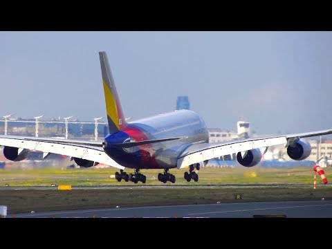 Asiana Airlines Airbus A380 [HL-7641] Landing at Frankfurt Airport FRA! [Full HD]