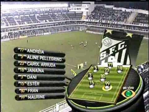 Santos 11x0 Caracas (Ven) Copa Libertadores da America de futebol Feminino 2009
