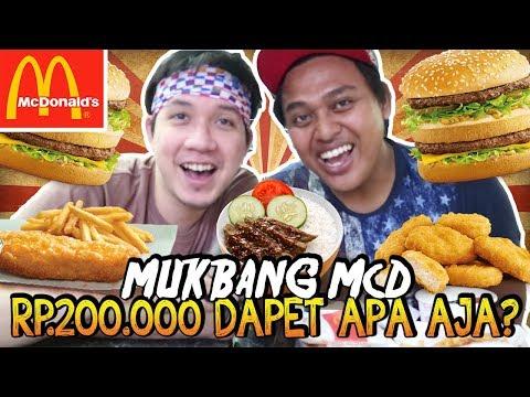 MUKBANG McD(McDONALD'S) RP.200.000 DAPET APA AJA YA!? - HAPPY EATING!