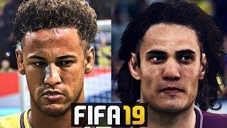 FIFA 19 All New PSG Players Faces Ft. Neymar , Cavani , Mbappe 4K