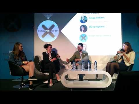 Dublin Tech Summit 2018. Panel discussion about future of the books