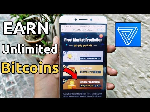 Earn unlimited BTC balance pivot app binary prediction | Earn unlimited bitcoins in pivot app