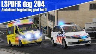 GTA 5 lspdfr dag  204 - Ambulance begeleiding gaat fout + achtervolging truck met vluchtelingen!