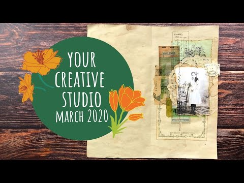Your Creative Studio Unboxing March 2020/Collaboration With Creativecafegirl/4 Collages