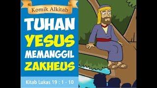 Gambar cover TUHAN YESUS BERTEMU ZAKHEUS - film slide animasi alkitab anak sekolah minggu