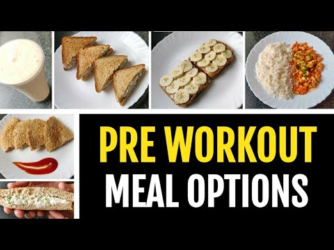 6 EASY PRE WORKOUT MEAL OPTIONS!! ( No Supplements ) ����