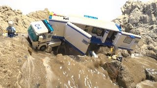 LEGO DAM BREACH - LEGO CITY POLICE TRUCK - TWO PARTS OF FLOODS!