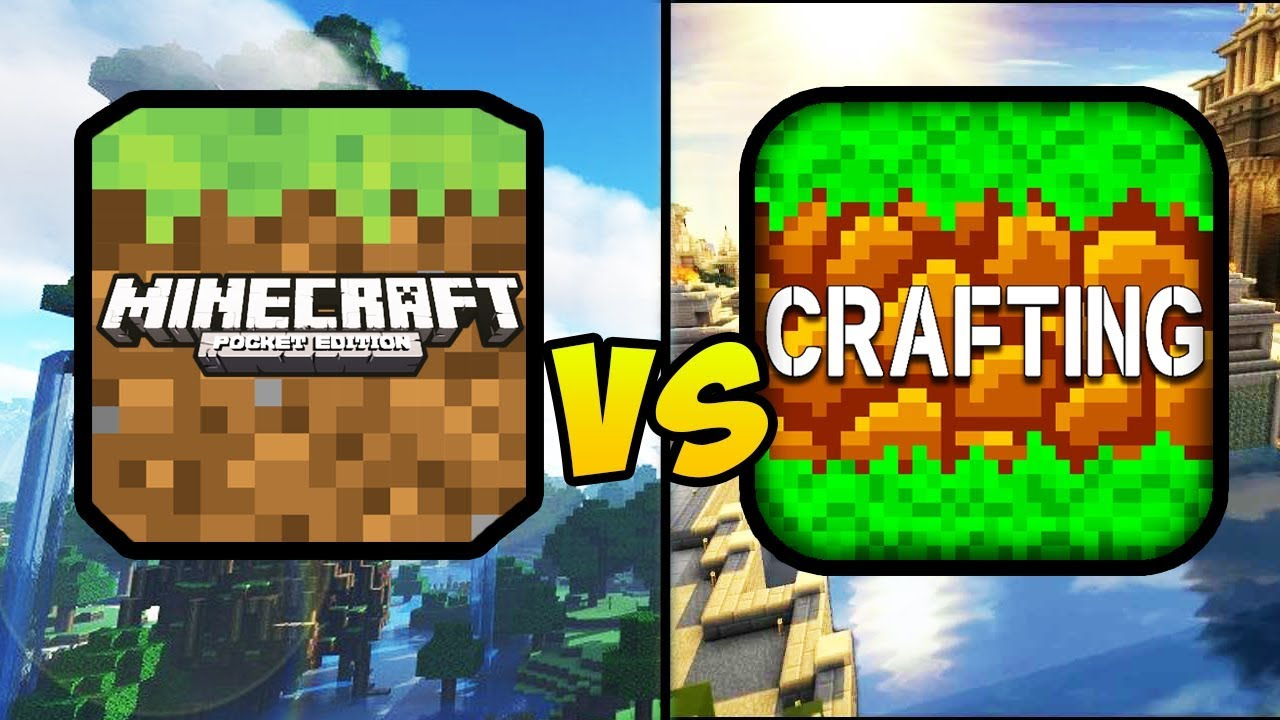 """MINECRAFT POCKET EDITION VS CRAFTING AND BUILDING"" (MCPE, Craft, Build, Mobile Games, iOS, Android)"