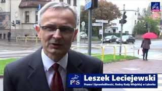 Leszek Leciejewski - przebudowa skrzyżowania