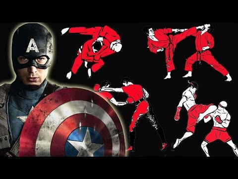 How many fighting styles does Captain America know in Captain America: Civil War?
