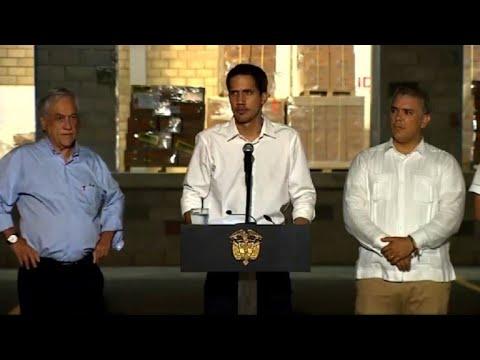 "afpes: Guaidó: fuerza armada ""participó"" para que llegara a Colombia"