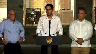 "Guaidó: fuerza armada ""participó"" para que llegara a Colombia"