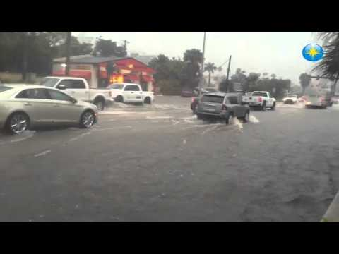 RAW: Flooding on Tamiami Trail and 2nd Street in Sarasota (Video by Jason Raven / SNN) #htvideo #hno