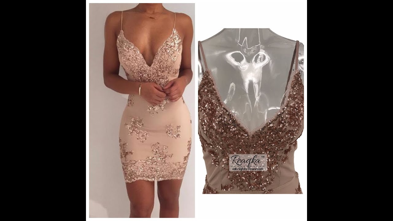 Модная женская одежда с AliExpress - Вечернее платье - YouTube