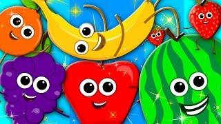 learn colors | fruits song | nursery rhymes | learning colors | preschool kids tv