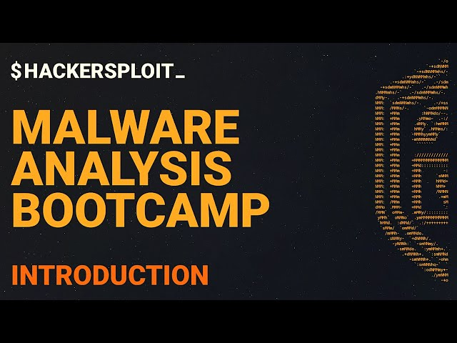 Malware Analysis Bootcamp - Introduction To The Course