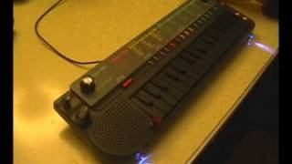 Circuit bent Casio SA-5 mini synth keyboard with 8 mods