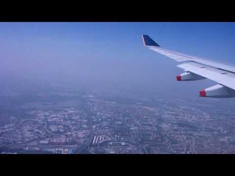 Singapore Airlines SQ850 (A330-300) lands at Baiyun International Airport