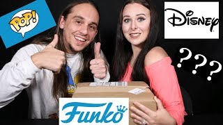 """WHERE'S ALL THE DISNEY POPS?!? Unboxing A """"DISNEY"""" Funko Pop Mystery Box From ToyWiz With My Wife!!"""
