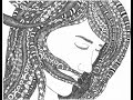 The Girl With Tangled Hair ║ Draw it  Again ║ Zen Doodle ║ Tiffany Lovering