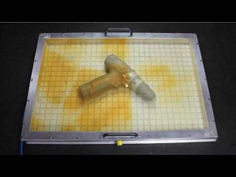 Vakuum Membranpresse in der Anwendung ++ ganz einfach selber furnieren ++