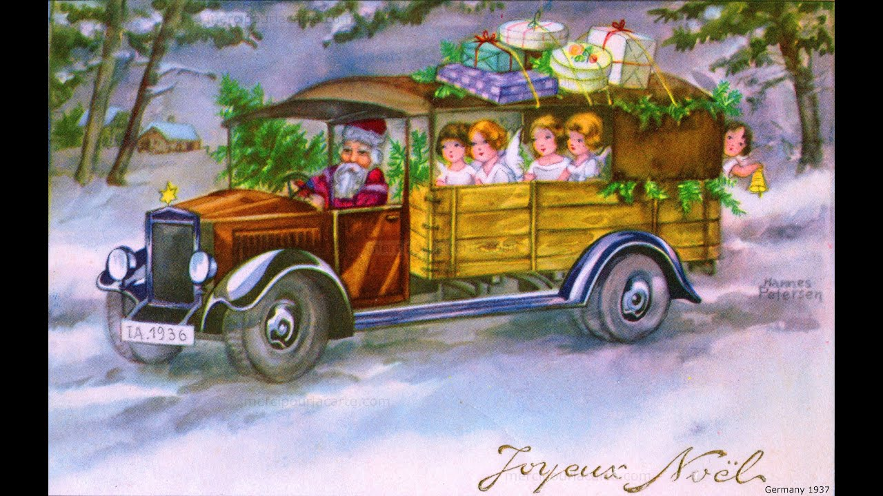 Noël en 50 cartes postales anciennes et récentes - 3 - YouTube