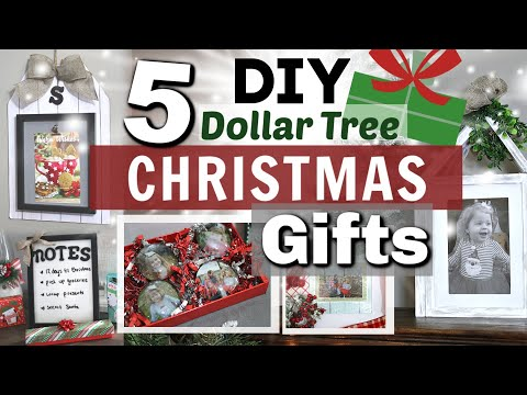 5 DIY Dollar Tree Christmas Gifts | BEST DIY GIFTS | Krafts By Katelyn