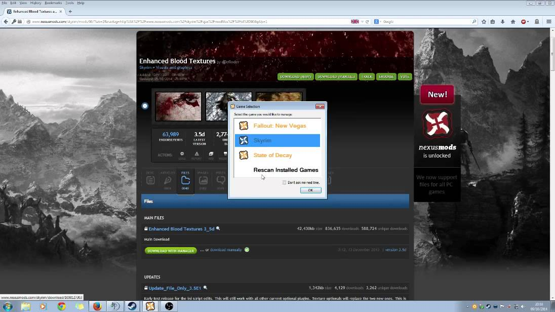 does nexas mod manager cap your download