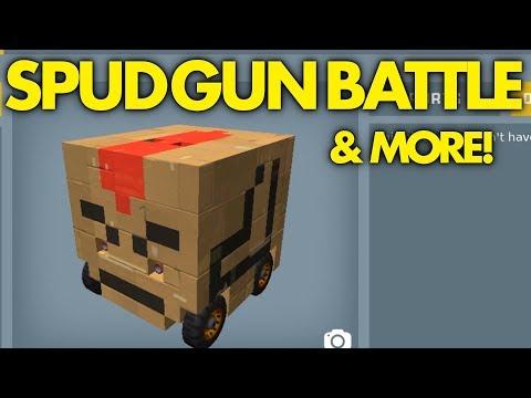 SPUD GUN BATTLE BOTS (+ other shenanigans) | Scrap Mechanic [Twitch Footage]