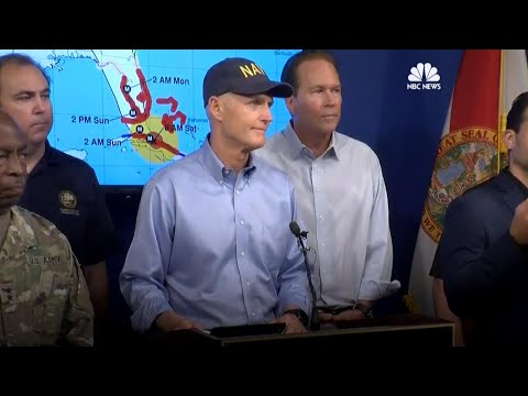 Florida's Gov. Rick Scott: The Storm's Here. Now Leave! | NBC News