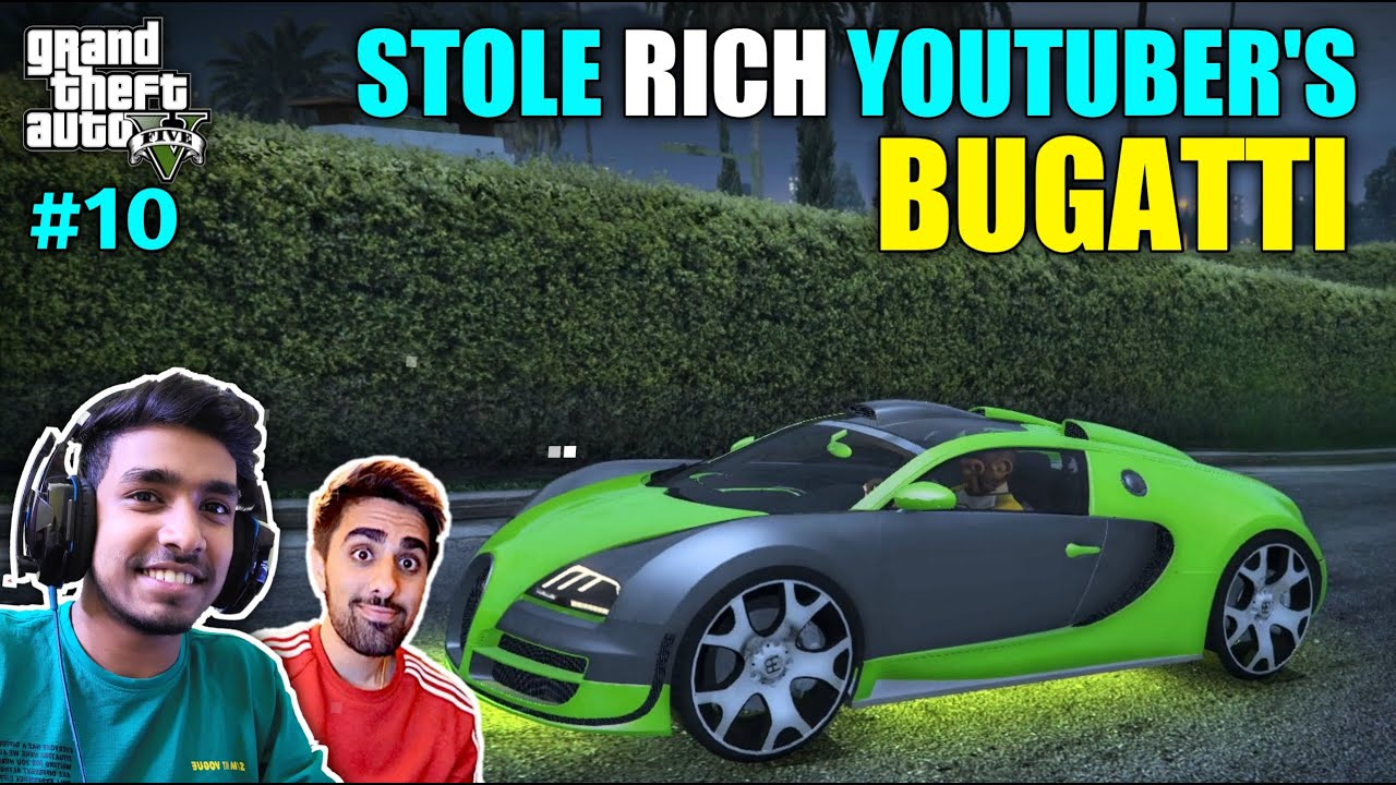 I STOLE RICH YOUTUBER'S CAR   GTA V GAMEPLAY #10 thumbnail