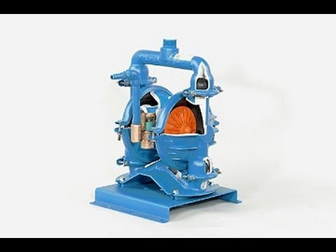Air Operated Double Diaphram Pump Animation