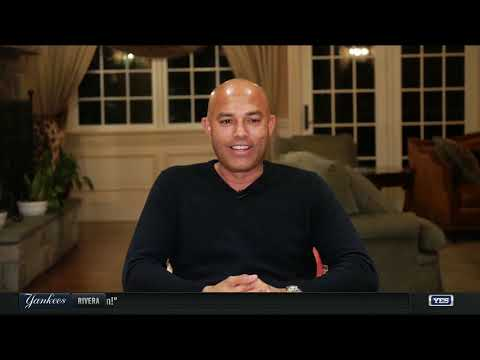 Mariano Rivera reacts to his historic Hall of Fame induction