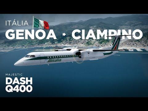 Prepar3D - Dash-8 Q400 / Genoa → Ciampino