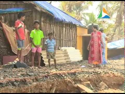 High waves damage 10 houses;  High alert at Valiyathura, Sanghumugham   22.04.18   Jaihind TV